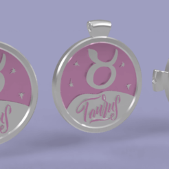 taurus5.png Download STL file 3 IN 1. COIN, BANGLE AND KYLON WITH THE TAURUS. • 3D print template, Skap14