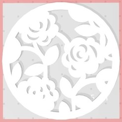 Download free STL files Flower coaster ( pink ), jbressac