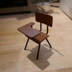 Télécharger objet 3D gratuit Vintage school desk, paul3ddesign