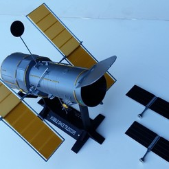 Download 3D printing files HUBBLE space telescope, aviationbuff52