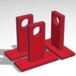 SOPORTE.png Download STL file CURTAIN ROD HOLDER • 3D printable template, KINEG3D