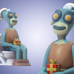 Descargar diseños 3D gratis Tony - Rick and Morty - christmas Edition , Hiwithekiwi