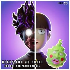 PORTADA.jpg Download STL file Mob Psycho 100 - 3D FanArt • 3D printing object, HIKO3D