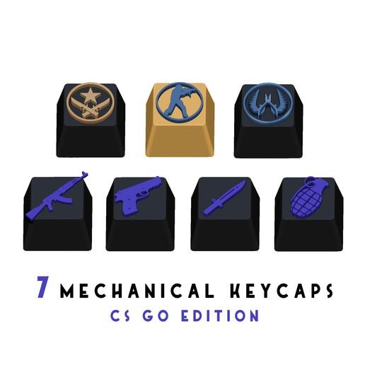 portada.jpg Télécharger fichier STL gratuit 7 Capuchons pour clavier mécanique - CS GO Edition • Plan à imprimer en 3D, HIKO3D