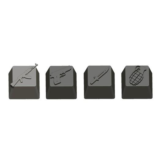08.jpg Télécharger fichier STL gratuit 7 Capuchons pour clavier mécanique - CS GO Edition • Plan à imprimer en 3D, HIKO3D