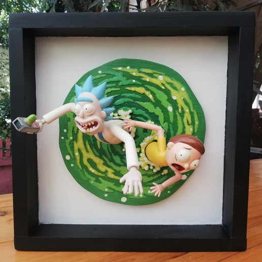 Download 3D print files Rick and Morty Inside the Portal - 3D Fan Art, HIKO3D