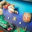 Télécharger objet 3D Shadowbox Donkey Kong - Ambiance aquatique - Fan Art 3D, HIKO3D