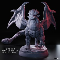 Download 3D printer model Teostra - Monster Hunter - 3D Fan Art -, HIKO3D