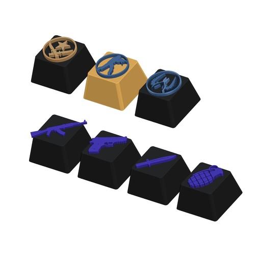 03.jpg Télécharger fichier STL gratuit 7 Capuchons pour clavier mécanique - CS GO Edition • Plan à imprimer en 3D, HIKO3D