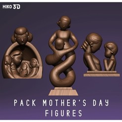 Descargar archivos STL Mother's Day Figure Pack , HIKO3D