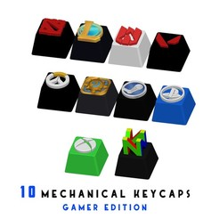 portada.jpg Descargar archivo STL 10 KEYCAPS FOR MECHANICAL KEYBOARD - GAMER EDITION • Modelo para imprimir en 3D, HIKO3D