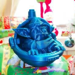 """0003.jpg Télécharger fichier STL Bébé Yoda """"GROGU"""" Bal de Noël • Modèle pour impression 3D, HIKO3D"""