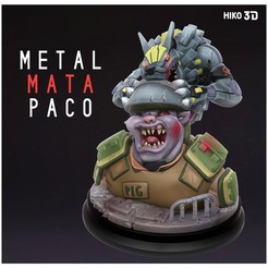 Download free STL file Metal Mata Pacos - Original Sculpture - 3D Print Model • 3D print object, HIKO3D