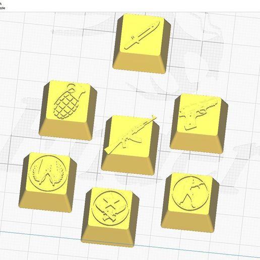 cura.JPG Télécharger fichier STL gratuit 7 Capuchons pour clavier mécanique - CS GO Edition • Plan à imprimer en 3D, HIKO3D