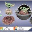 Download 3D printing designs Baby Yoda The Child Mandalorian - 3D FanArt - 3D Print, hiwithekiwi