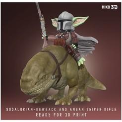portada_cults.jpg Download STL file The Child Yodalorian - Dewback - Amban Sniper Rifle - The Mandalorian Star Wars - 3D Fan Art • Object to 3D print, HIKO3D