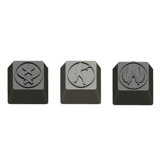 09.jpg Télécharger fichier STL gratuit 7 Capuchons pour clavier mécanique - CS GO Edition • Plan à imprimer en 3D, HIKO3D