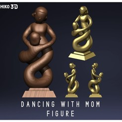 Descargar archivos STL Mother and son dancing Figure - Mother's Day , HIKO3D
