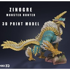 portada.jpg Download STL file Zinogre - Jinouga - Monster Hunter - 3D Fan Art - • 3D printer object, HIKO3D