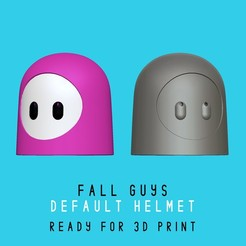 default_helmet_portada.jpg Télécharger fichier STL Fall Guys - Casque de base par défaut - échelle réelle • Modèle à imprimer en 3D, HIKO3D