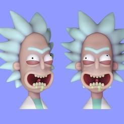 Impresiones 3D gratis Rick Sanchez Bust, HIKO3D