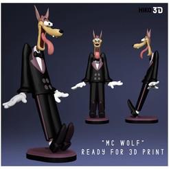 Télécharger fichier impression 3D Dessin animé McWolf Tex Avery, HIKO3D