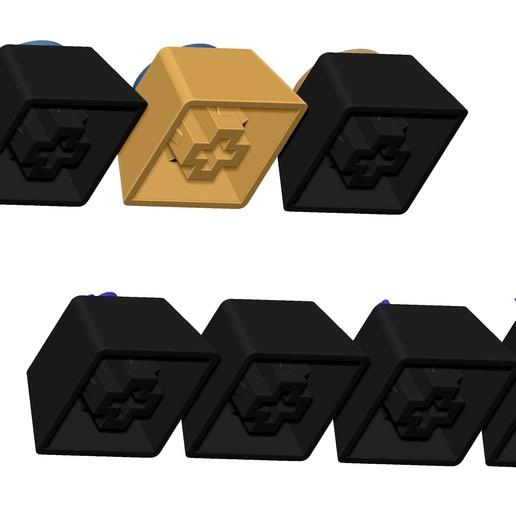 05.jpg Télécharger fichier STL gratuit 7 Capuchons pour clavier mécanique - CS GO Edition • Plan à imprimer en 3D, HIKO3D