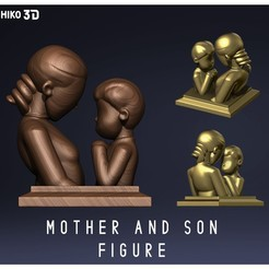 Descargar modelo 3D Mother and son Figure - Mother's Day , HIKO3D