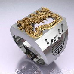 Descargar modelos 3D anillo del dragón, hobachnam