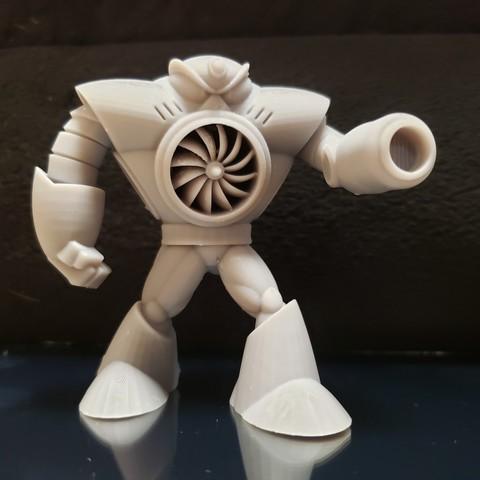 3D printing AIRMAN from MEGAMAN2 ・ Cults