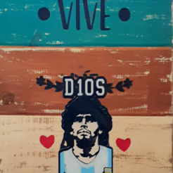 D10S 2.png Download STL file MARADONA • Object to 3D print, jorvarela70