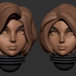 16.png Télécharger fichier OBJ Série d'animés des têtes alternatives d'Adepta Sororitas Modèle d'impression 3D • Modèle pour impression 3D, Minigames_miniatures