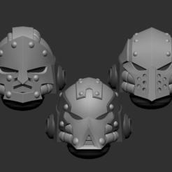 full.png Download STL file Adeptus astartes alternative heads set 3D print model • 3D printable object, Minigames_miniatures