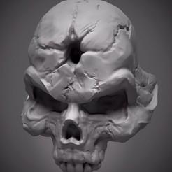 к.jpg Download OBJ file Skull ring 3D print model • 3D printable design, Minigames_miniatures