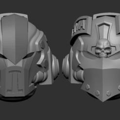 astartes1.png Télécharger fichier OBJ Adeptus astartes alternative heads set 3D print model • Modèle imprimable en 3D, Minigames_miniatures