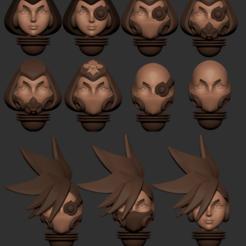full.png Télécharger fichier STL Série d'animés des têtes alternatives d'Adepta Sororitas Modèle d'impression 3D • Modèle pour impression 3D, Minigames_miniatures