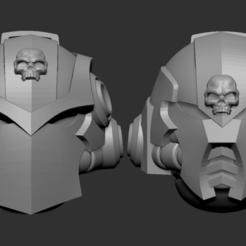 astartes.png Download OBJ file Adeptus astartes alternative heads set • 3D printing object, Minigames_miniatures