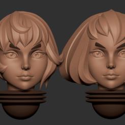 head15.2.png Télécharger fichier OBJ Série d'animés des têtes alternatives d'Adepta Sororitas Modèle d'impression 3D • Modèle pour impression 3D, Minigames_miniatures