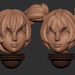 head11.2.png Télécharger fichier OBJ Série d'animés des têtes alternatives d'Adepta Sororitas Modèle d'impression 3D • Modèle pour impression 3D, Minigames_miniatures