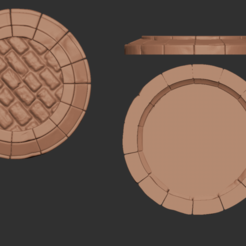 base.png Download STL file 25mm brick base • Object to 3D print, Minigames_miniatures