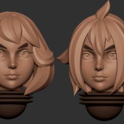 17.2.png Télécharger fichier STL Série d'animés des têtes alternatives d'Adepta Sororitas Modèle d'impression 3D • Modèle pour impression 3D, Minigames_miniatures