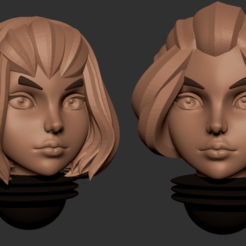 11.png Télécharger fichier OBJ Série d'animés des têtes alternatives d'Adepta Sororitas Modèle d'impression 3D • Modèle pour impression 3D, Minigames_miniatures