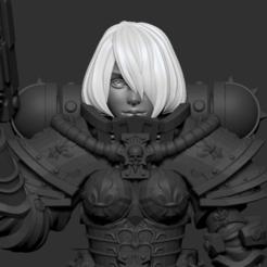 head2.png Download OBJ file Anime set of Adepta Sororitas alternative heads 3D print model • 3D print design, Minigames_miniatures