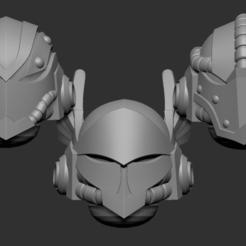 astartes.png Download STL file Adeptus astartes alternative heads set 3D print model • 3D printable object, Minigames_miniatures