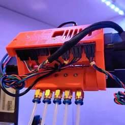 Download free STL file Prusa MMU2S Rear PTFE Coupler • 3D print template, brentwerder