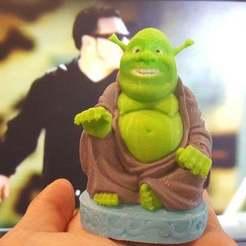Descargar diseños 3D gratis Buda Shrek multicolor, brentwerder