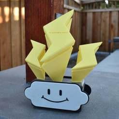 Download free 3D printer designs Mario Kart 8 - Lightning Cup Trophy, brentwerder