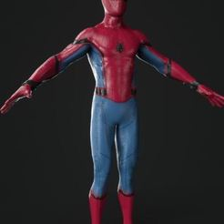 Download free STL file Spiderman Homecoming Character Model, stan_x