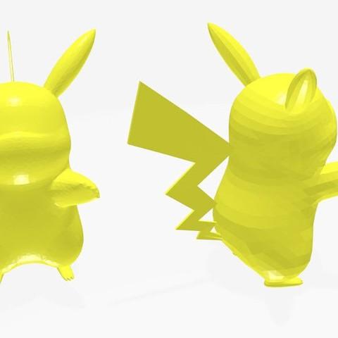 Download free 3D printing designs pikachu, stan_x