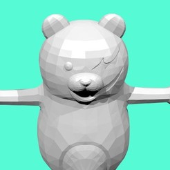 Download free 3D printer designs Monokuma Low poly, stan_x